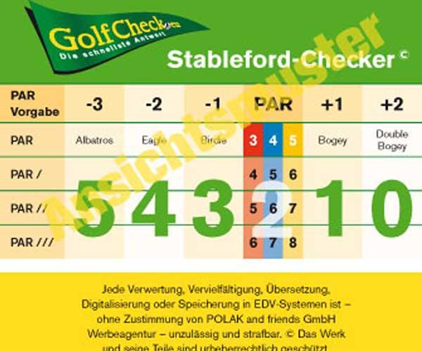 golfcheck stableford punkte rasch berechnen genial